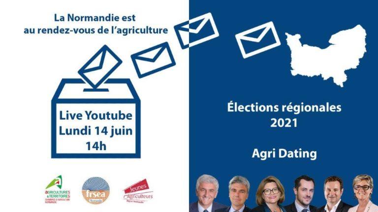 « La Normandie est au rendez-vous de l'agriculture ! » Lundi 14 juin 2021 à partir de 13h45