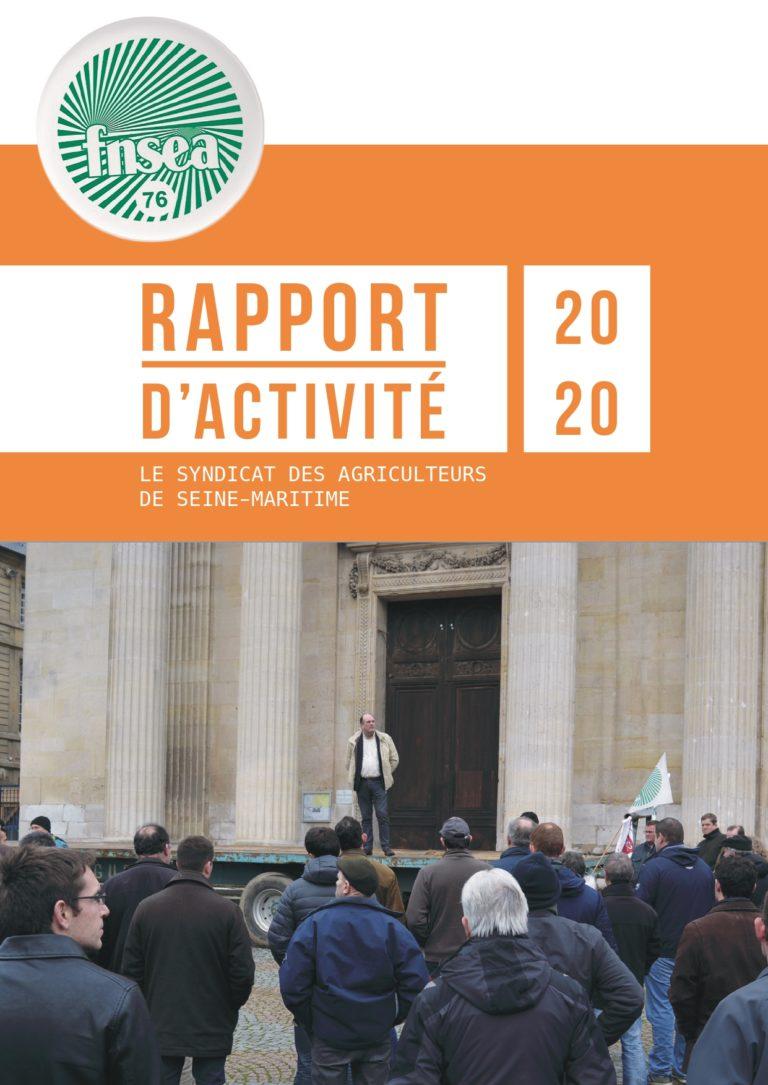 Rapport d'activité 2020 de la FNSEA76
